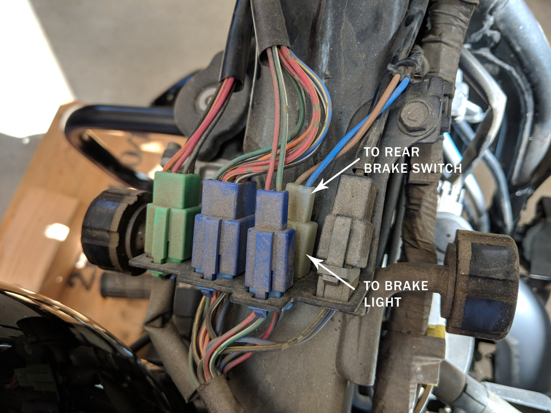 rear brake switch connection