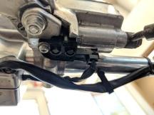 front brake light switch installed